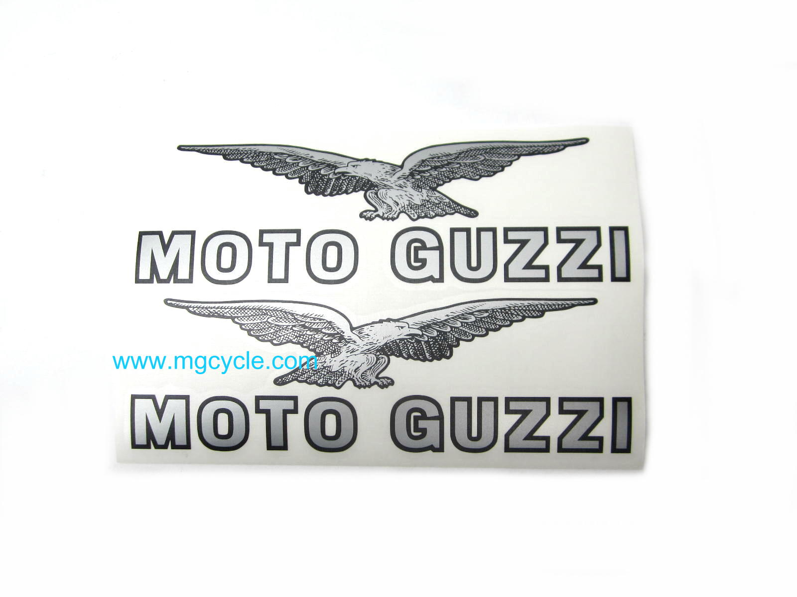 Fuel tank decal set, black and silver, pair